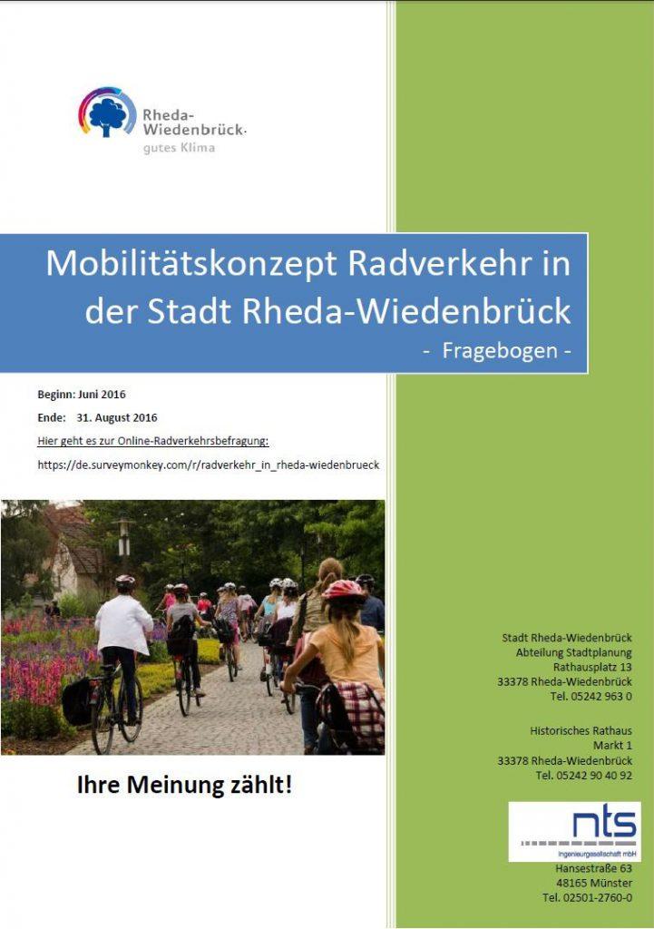Deckblatt des Fragebogens zum Mobilitätskonzept